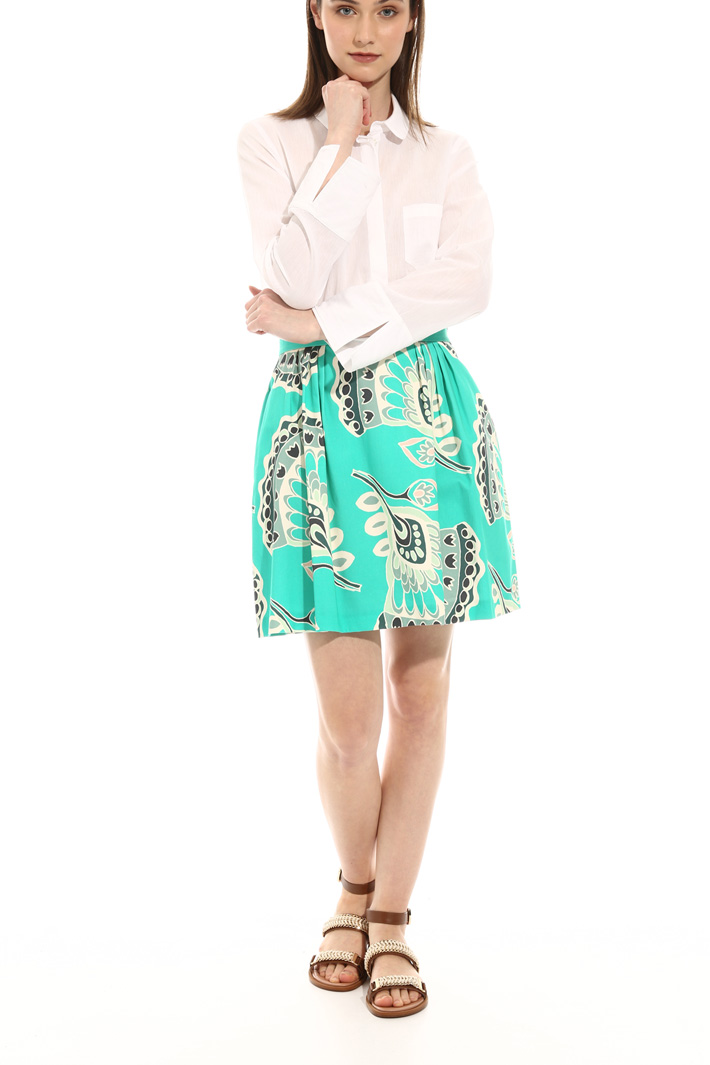 Corolla skirt in cotton satin Intrend