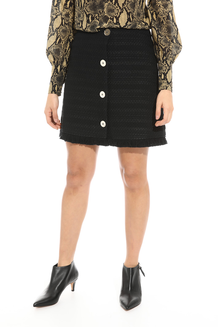 Button through mini skirt Intrend