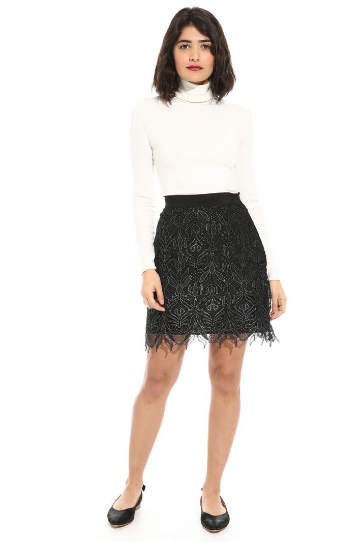 Macrame lace mini skirt Intrend