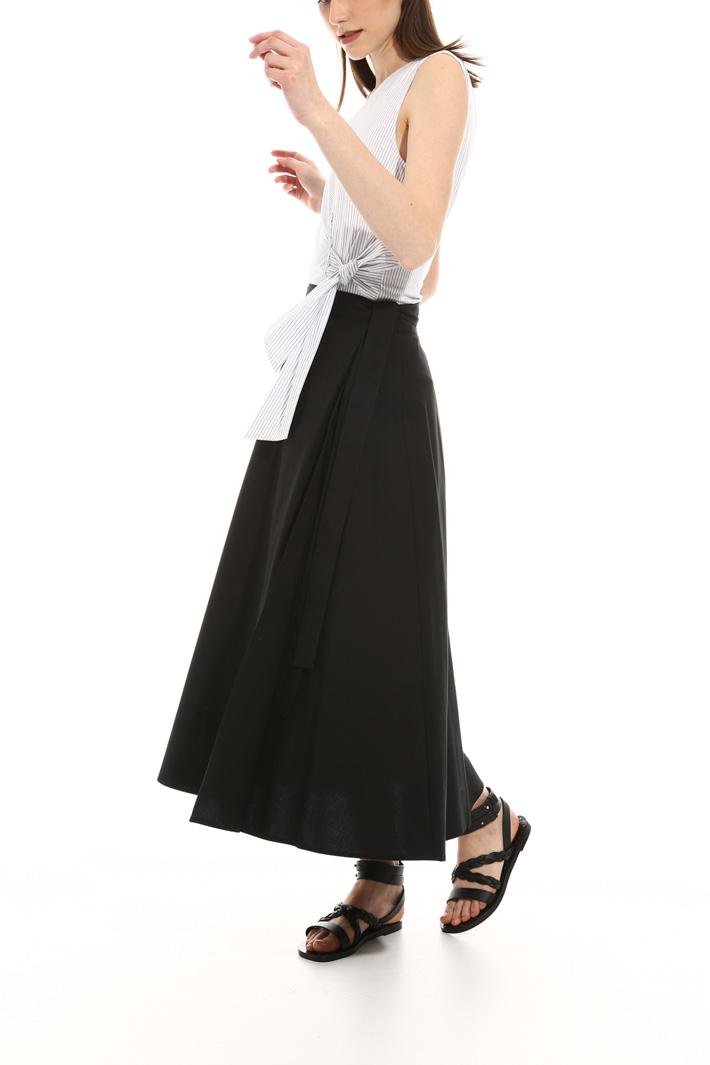 Wrap-up poplin skirt Intrend