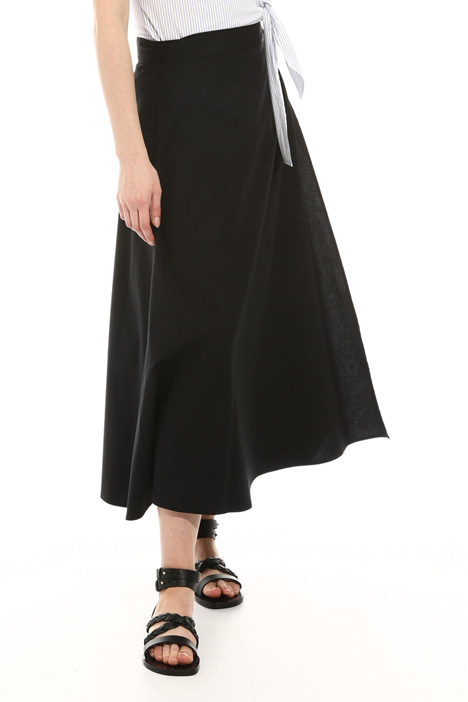 Wrap-up poplin skirt Intrend