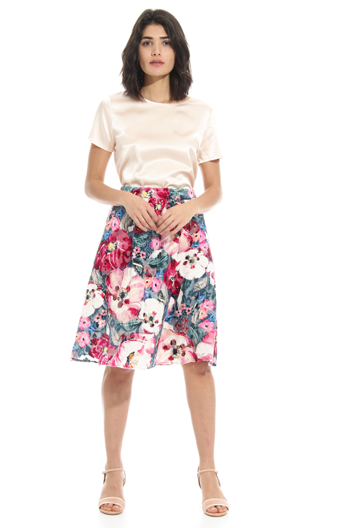 Devorè velvet skirt    Intrend