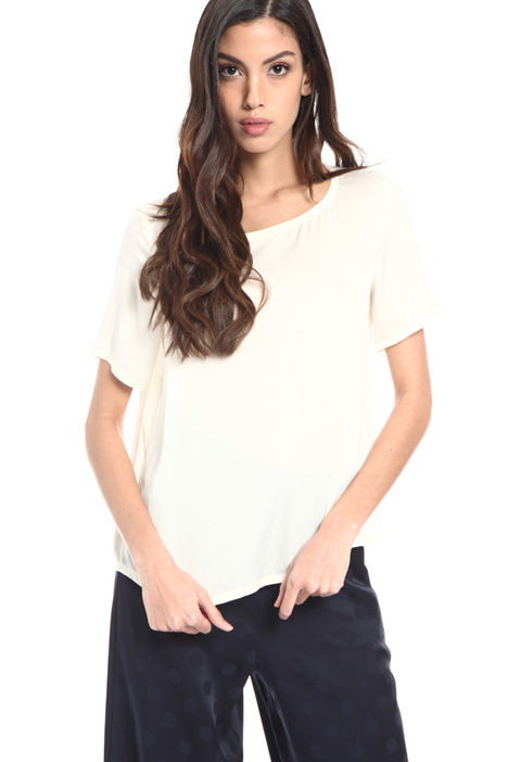 Silk blend satin T-shirt Intrend