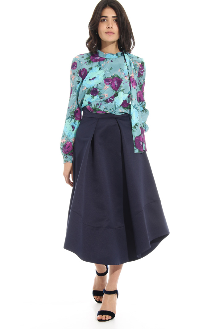 Scarf neck silk blouse Intrend