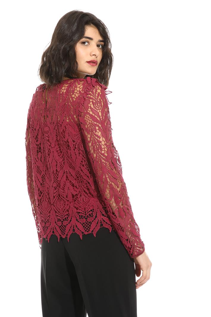 Macramé lace blouse   Intrend