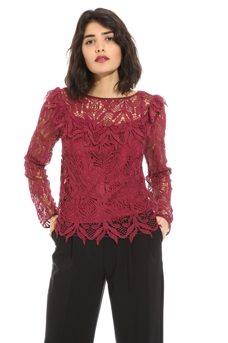 Macramé lace blouse    Intrend