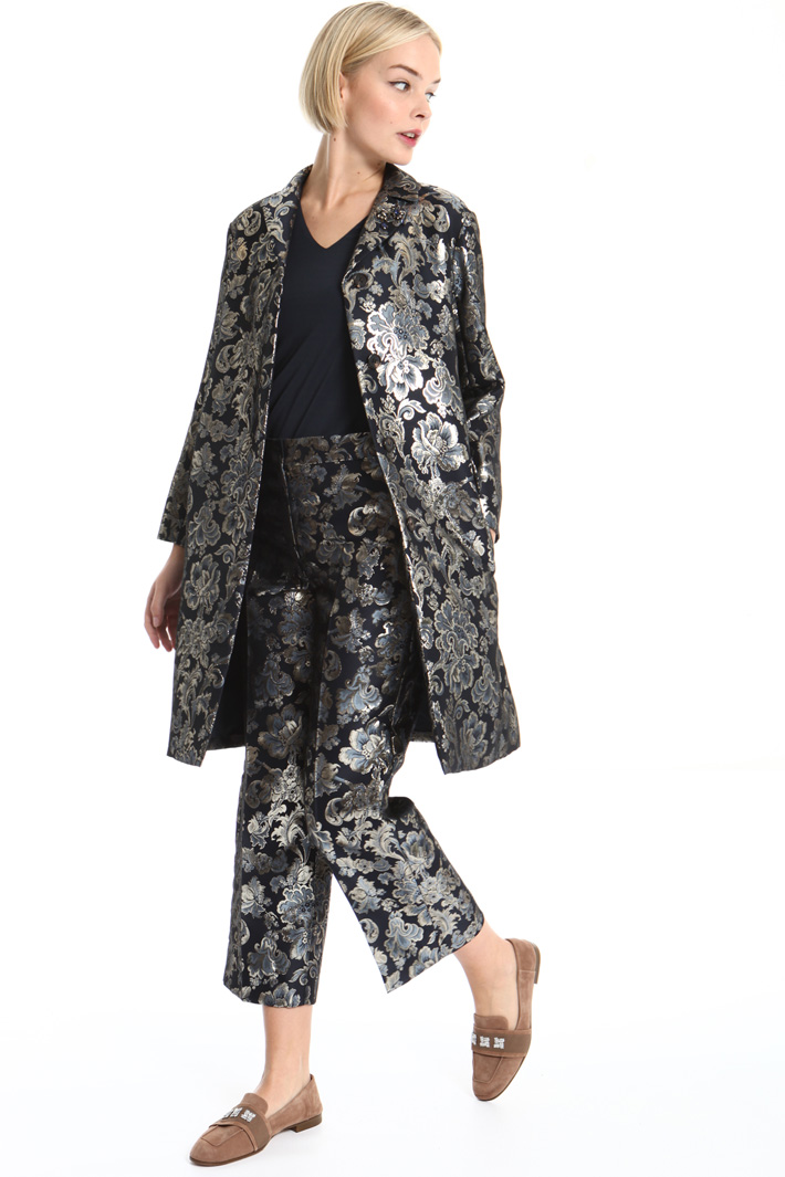 Lamé jacquard duster coat Intrend