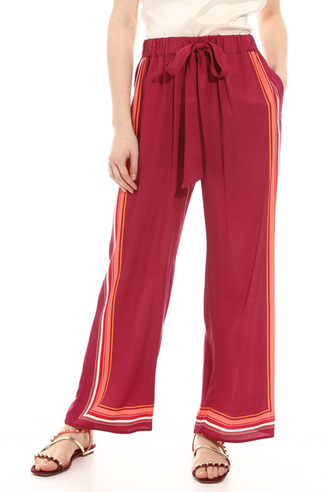 Palazzo twill trousers Intrend