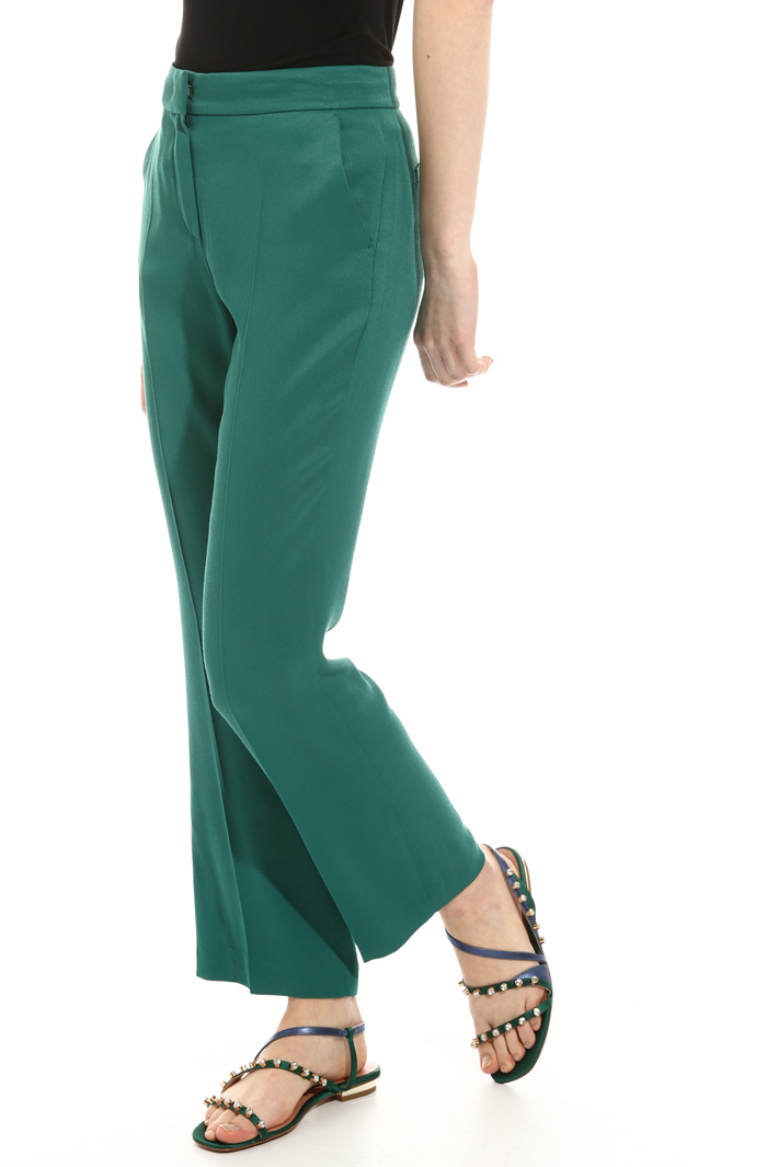 Printed satin trousers Intrend
