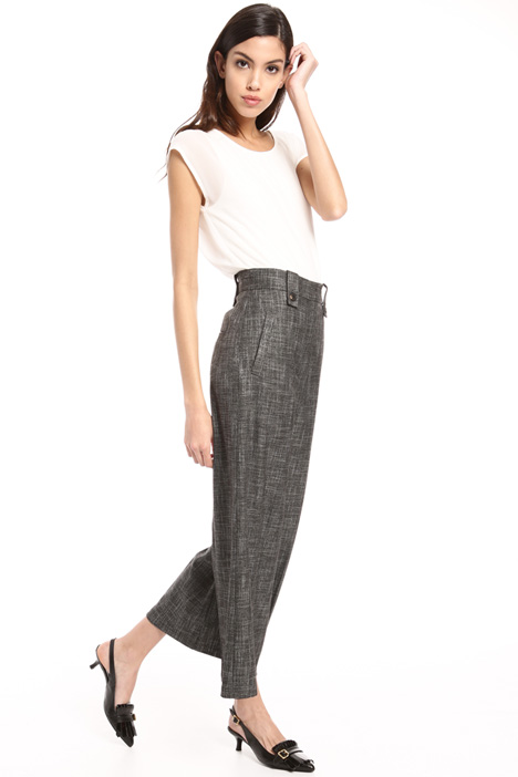 Flared cropped trousers Intrend