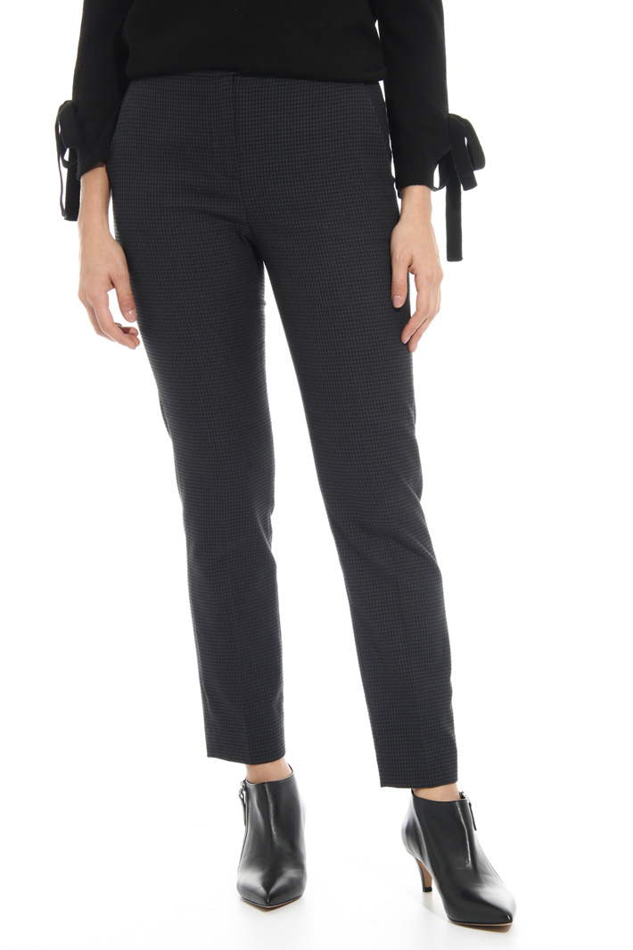 Cotton jacquard trousers Intrend