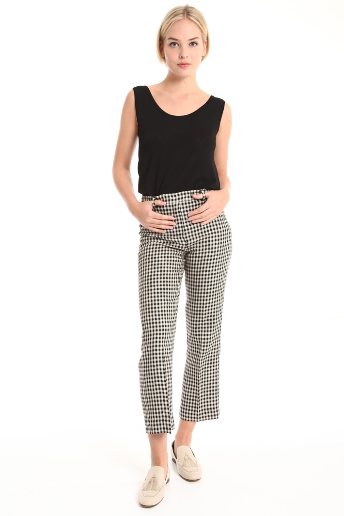 Pure linen crop trousers Intrend