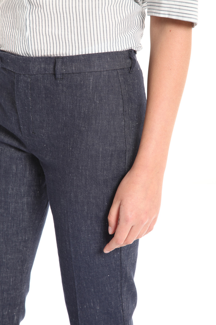 Linen and cotton jeans Intrend