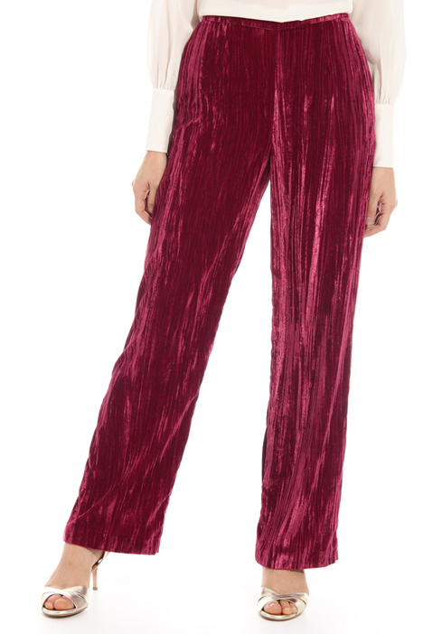 Velvet effect trousers Intrend