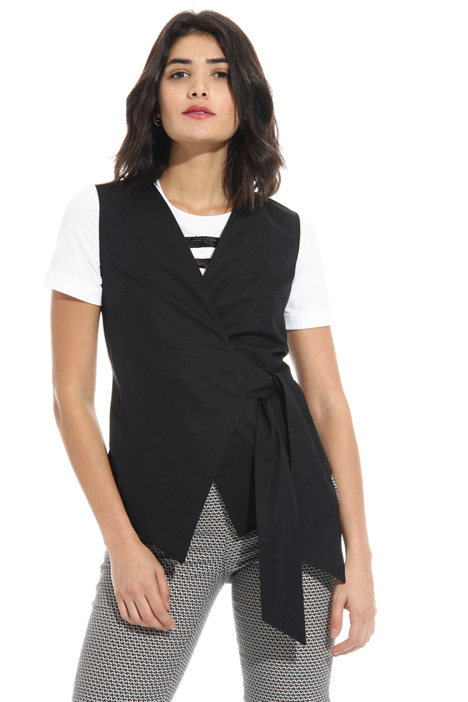 Wrap-up sleeveless top Intrend