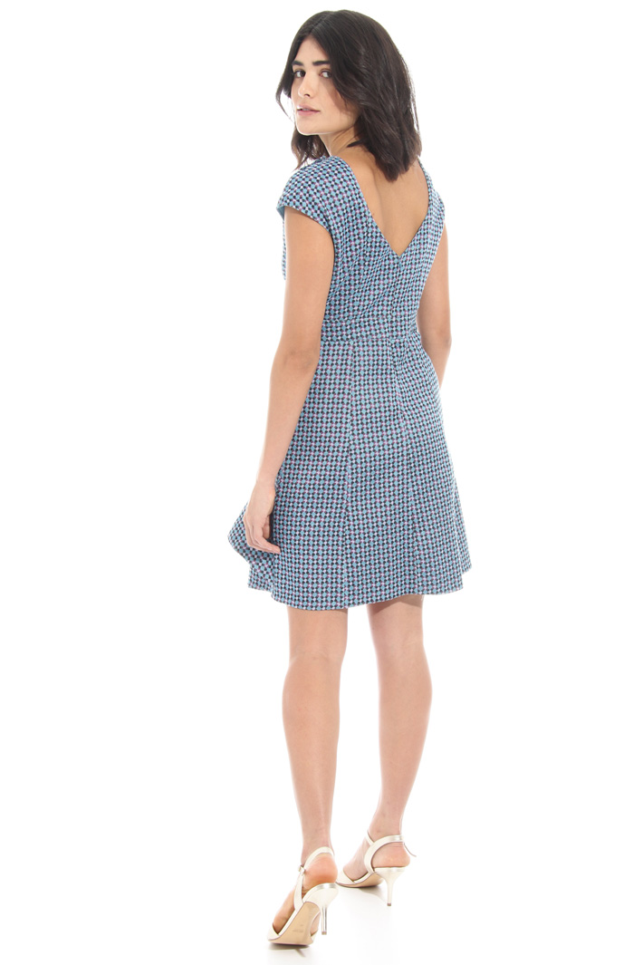 Ruffled jacquard dress Intrend