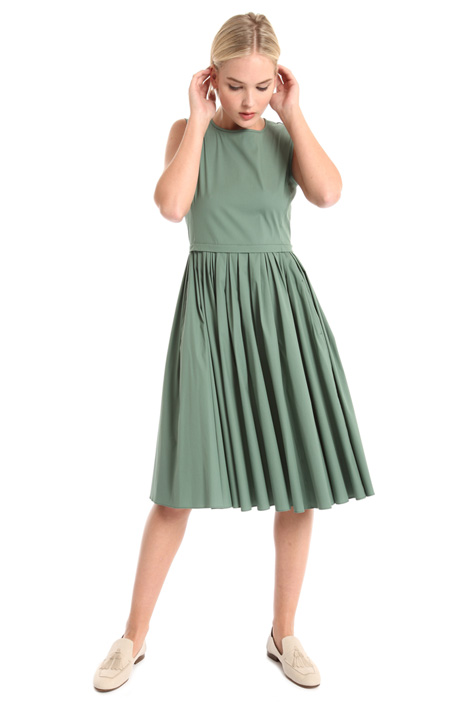 Pleated cotton dress Intrend