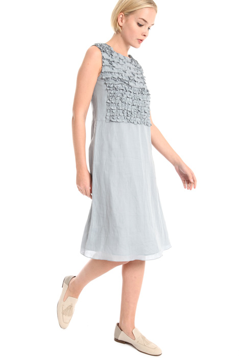 Frilled ramie dress Intrend