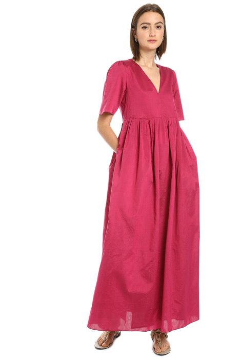 V-neck cotton and silk dress Intrend