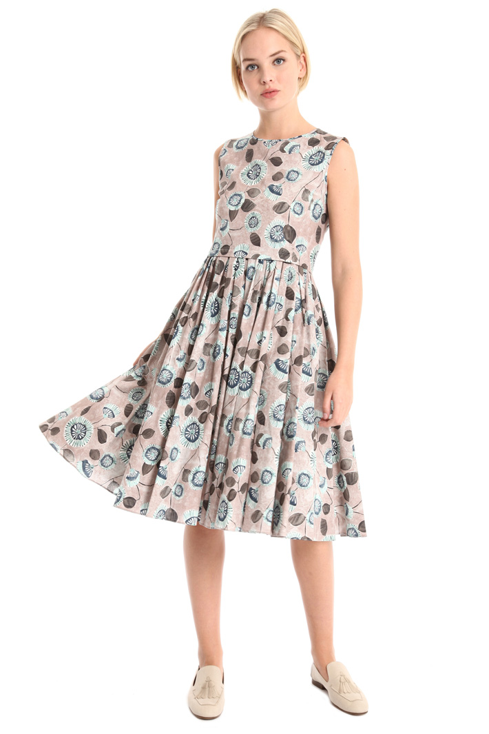Printed dress in pure cotton Intrend