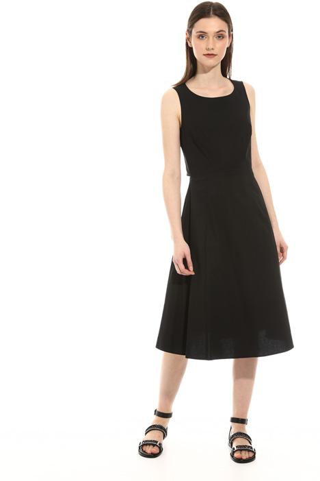 Sleeveless cotton poplin dress Intrend