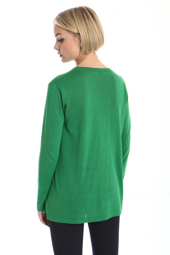 Long silk sweater Intrend