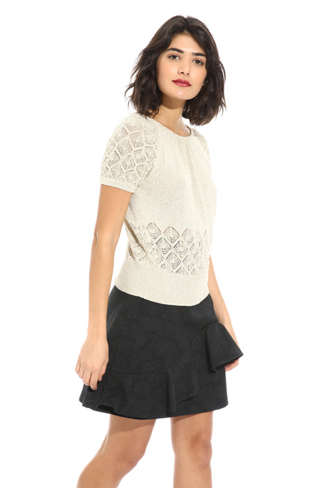 Mesh lurex effect sweater Intrend