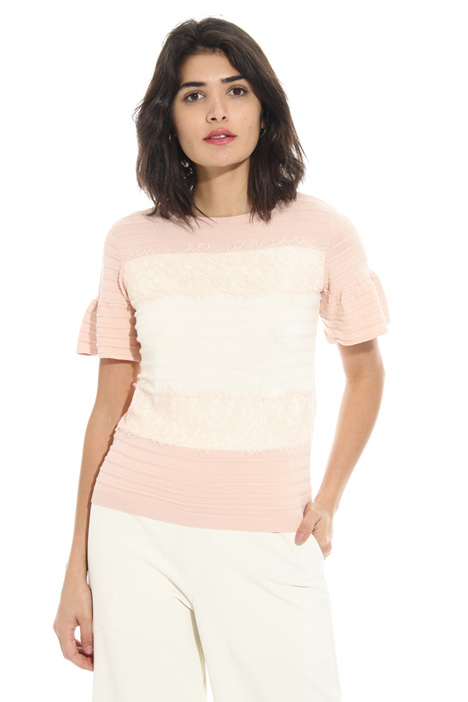 T-shirt with lace Intrend