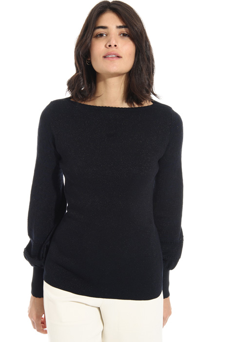Mesh viscose sweater Intrend