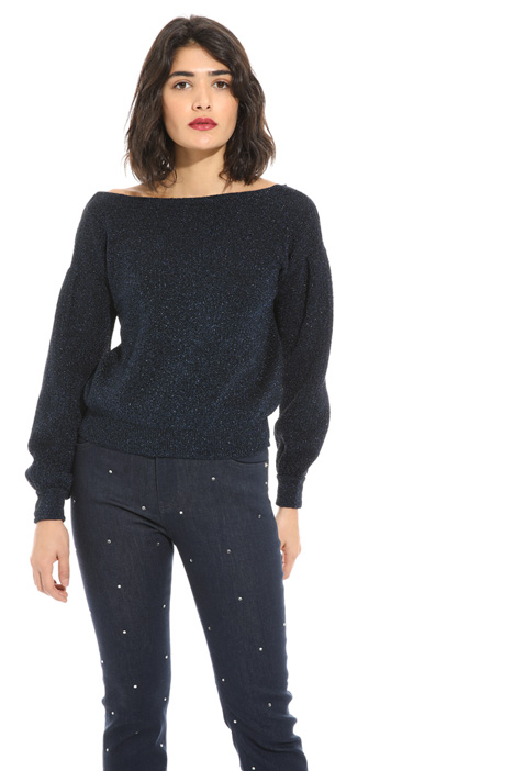 Lurex effect lamé sweater Intrend