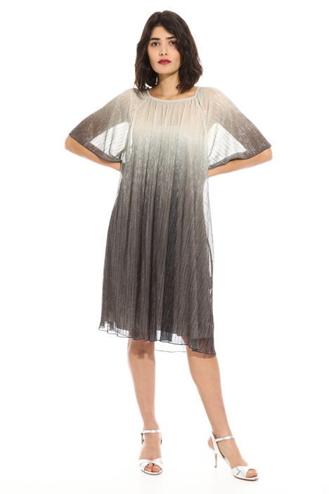 Jersey plissé lurex dress Intrend