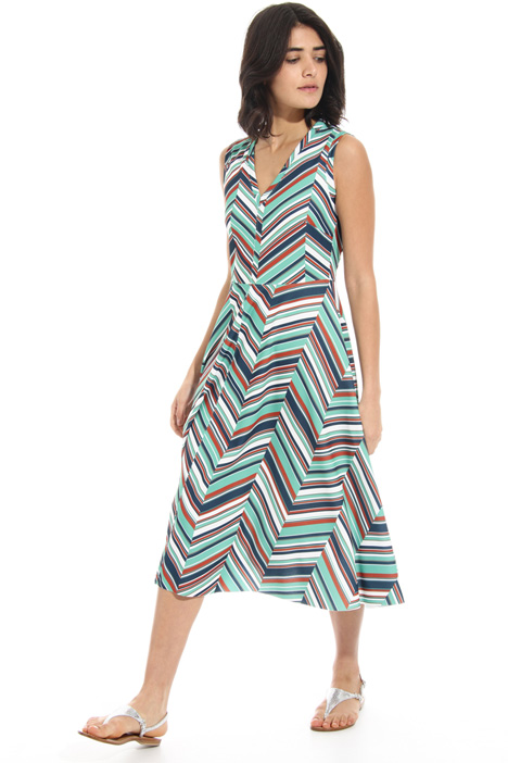 Stretch jersey V-neck dress Intrend