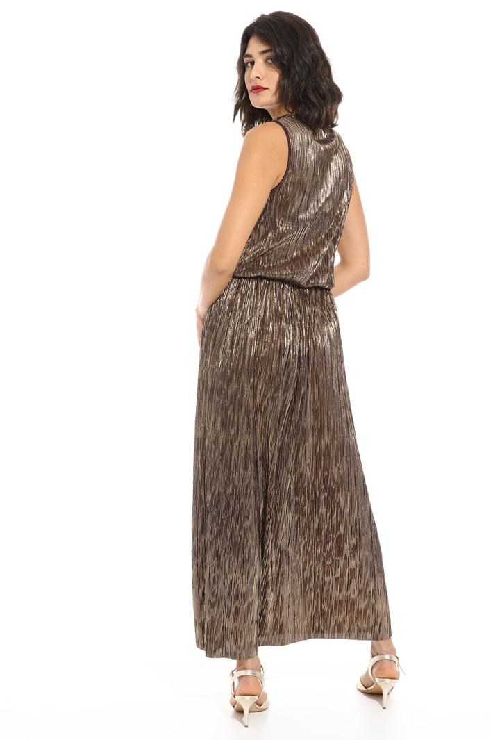 Jersey dress with plissè Intrend