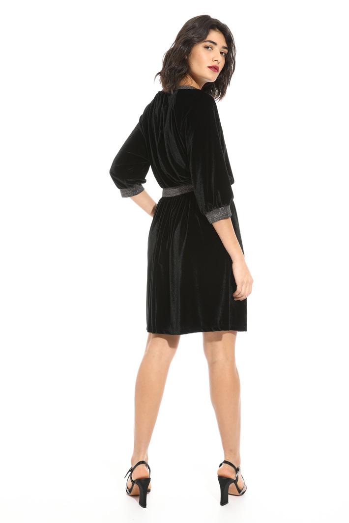 Flared velvet dress Intrend