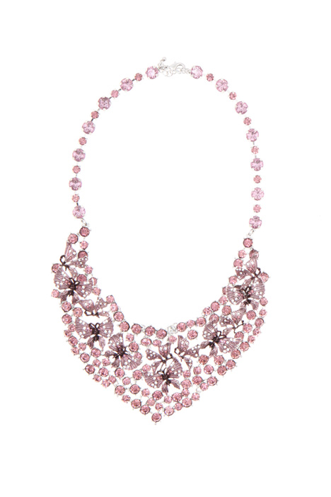 Semi-rigid rhinestone necklace Intrend