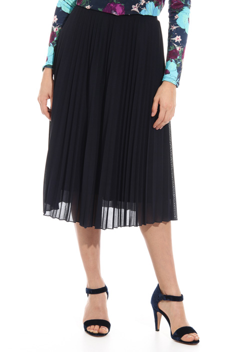 Pleated jersey midi skirt Intrend
