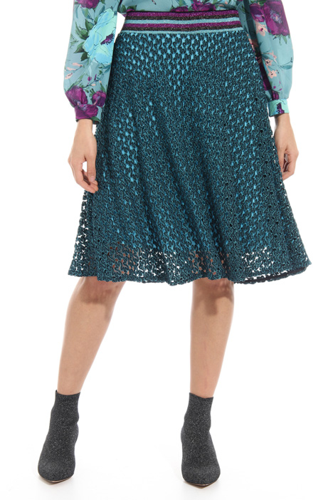 Perforated jersey skirt Intrend