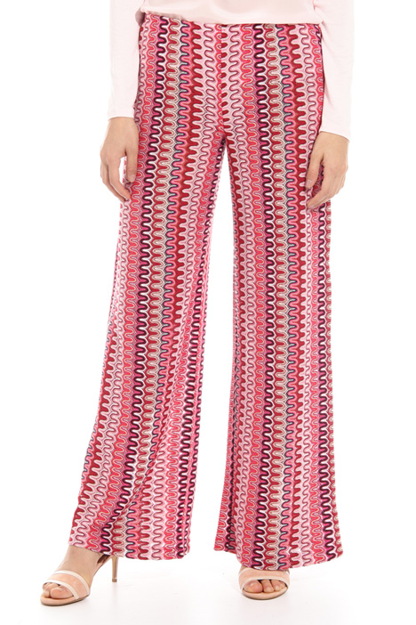 Knitted lurex jersey trousers Intrend