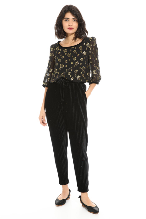 Velvet-effect trousers Intrend