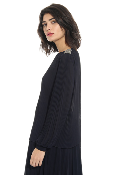 Pleated jersey blouse Intrend