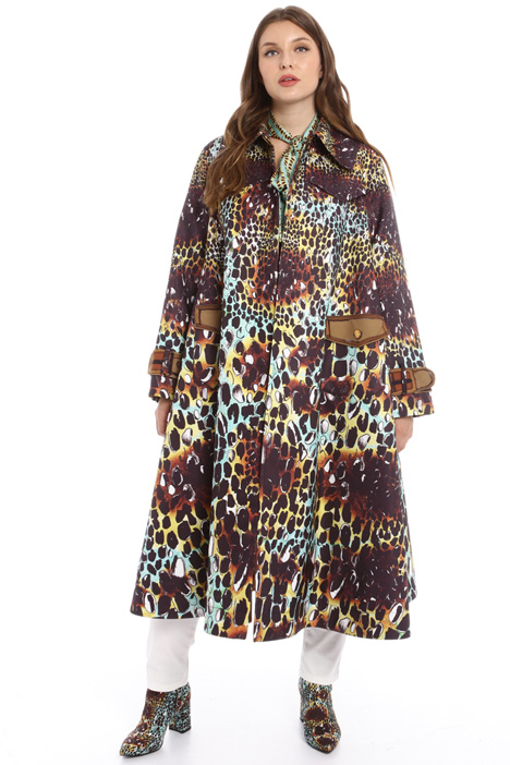 Loose fit printed trench Intrend