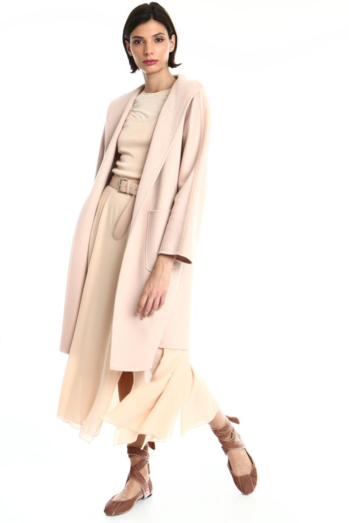 Kimono sleeve cashmere coat Intrend