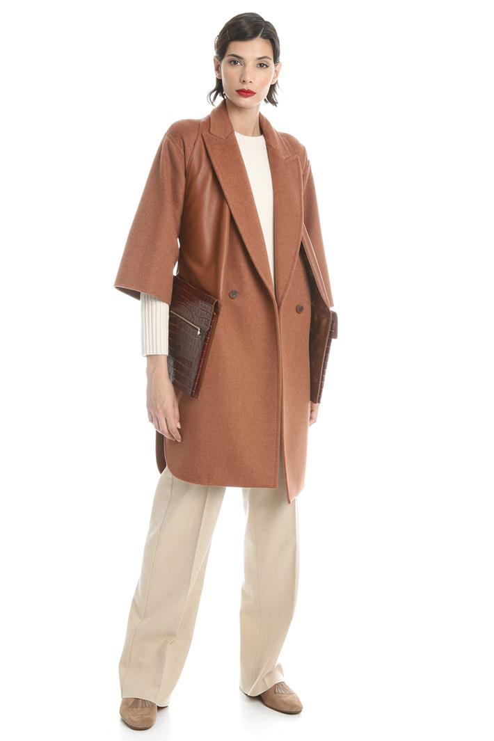 Short sleeve cashmere coat Intrend