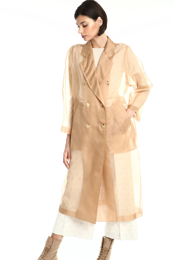 Silk organza coat Intrend