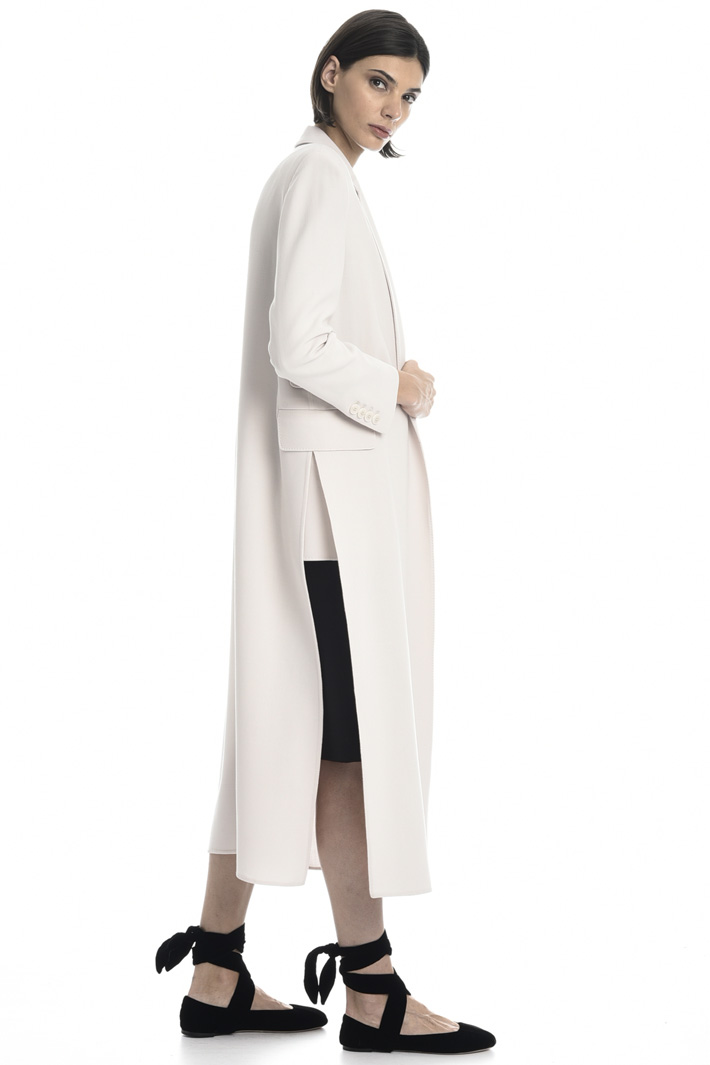 Wool crepe duster coat Intrend