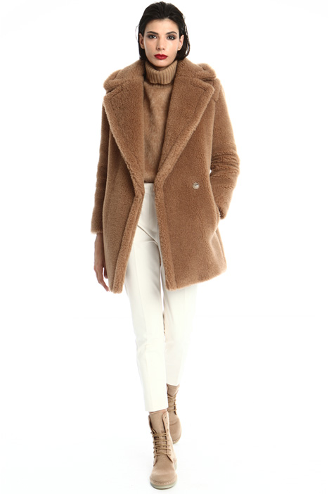 Camel and silk coat Intrend