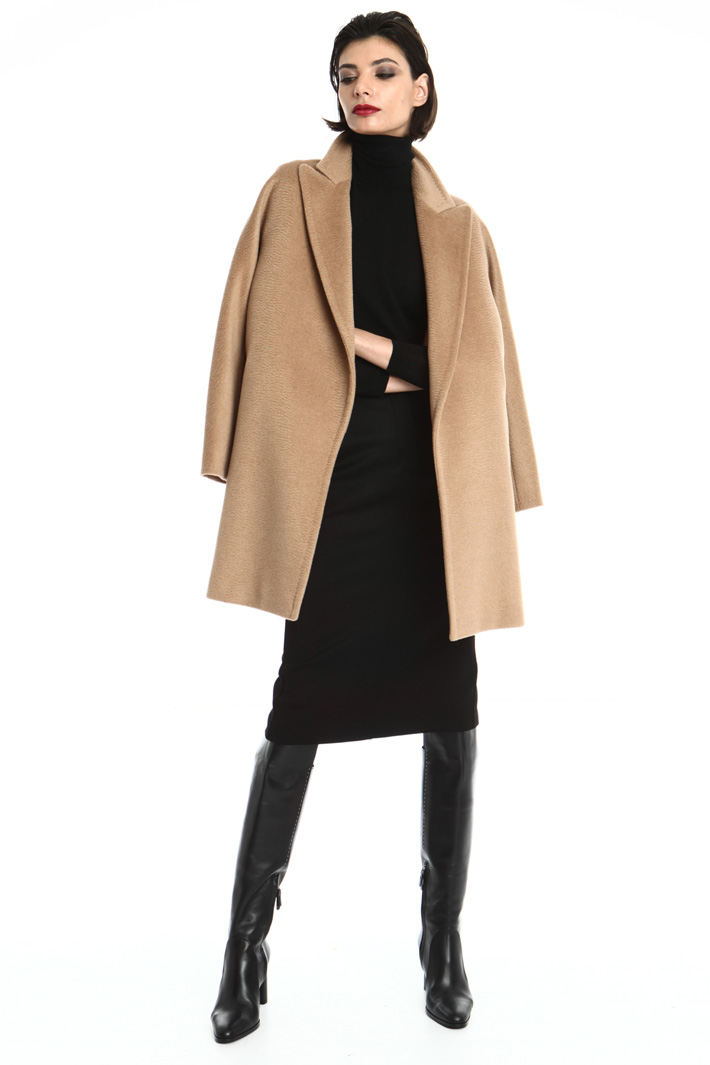 Camel coat Intrend