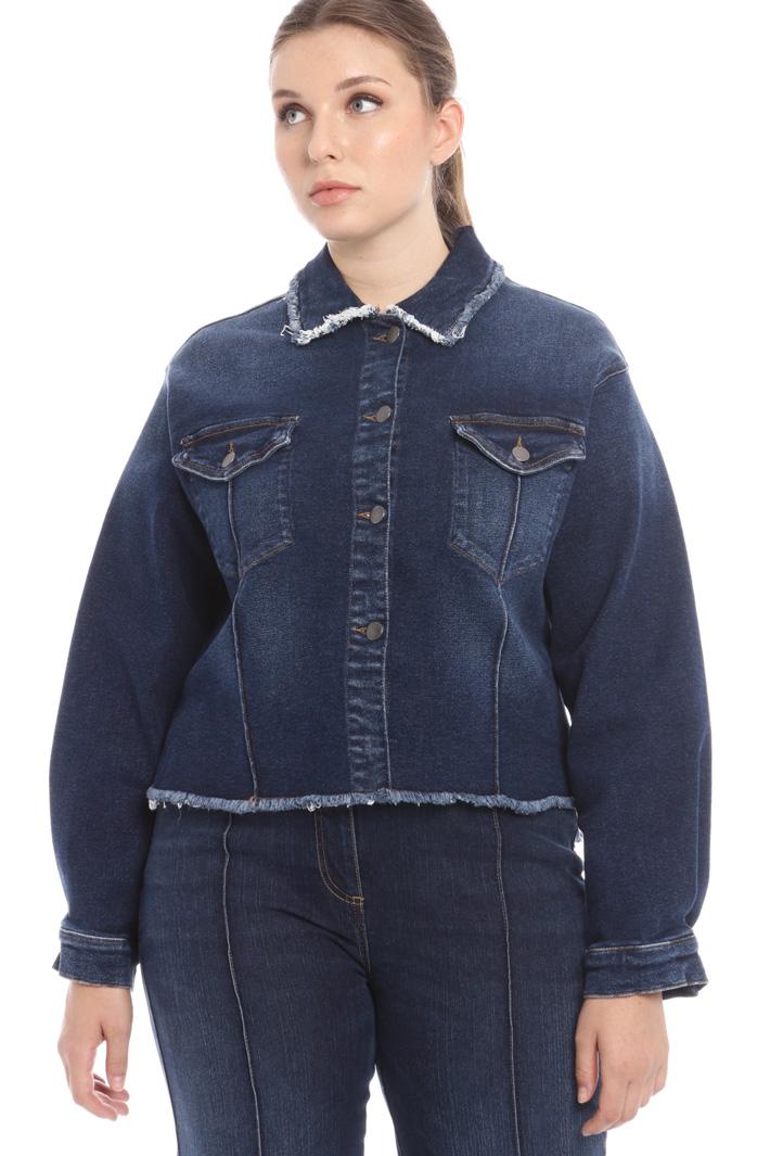 Fringed denim jacket Intrend