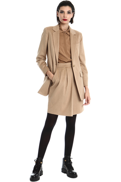 Single button camel blazer Intrend