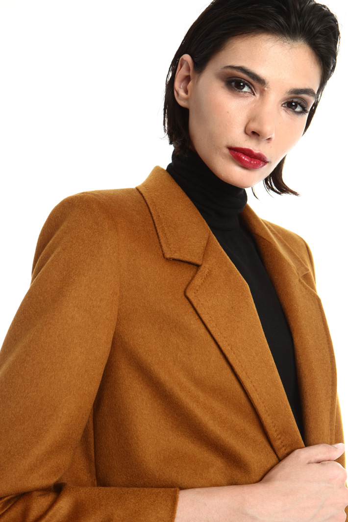 Multiple pocket camel blazer Intrend